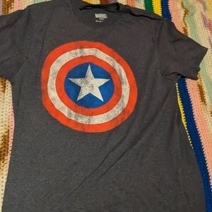 Captain America distressed shield shirt